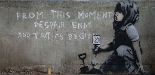 Banksy - FROM THIS MOMENT DESPAIR ENDS AND TACTICS BEGIN